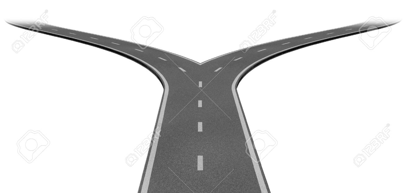 Fork in the road clip art free.