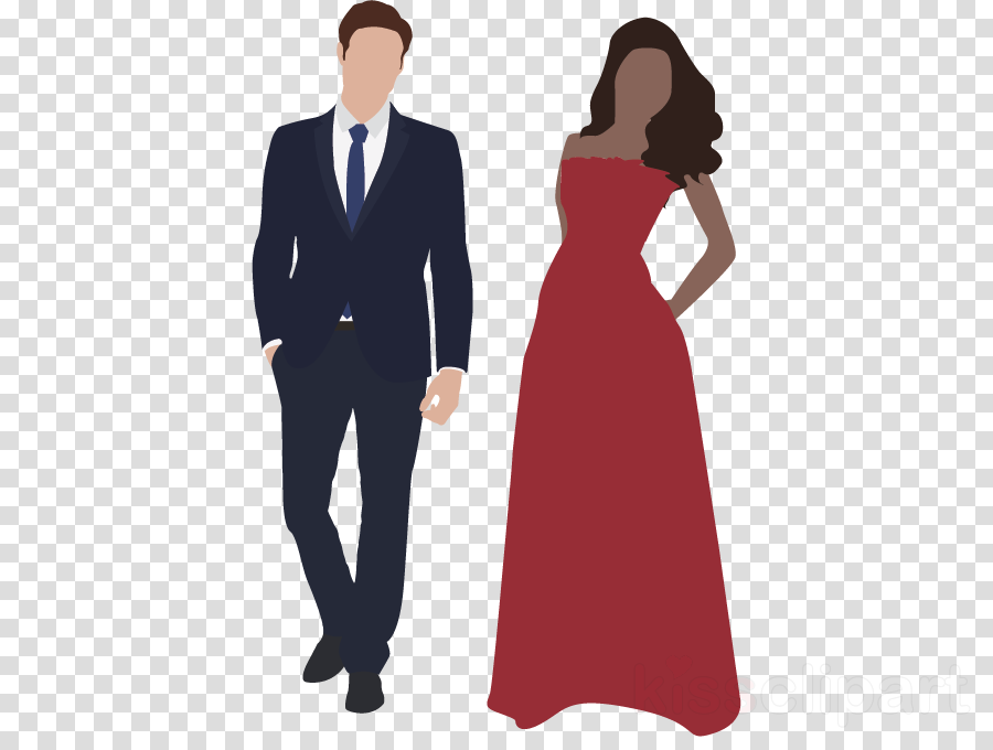 formal wear clothing standing suit dress clipart.