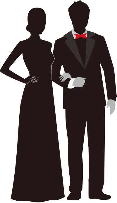 Formal Couple Silhouette.