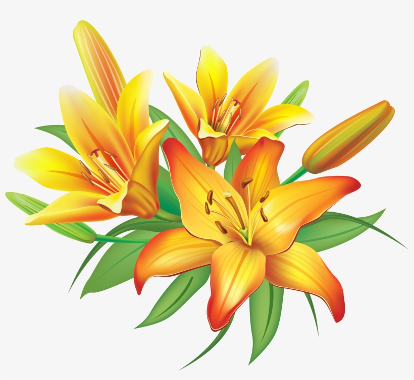 Yellow Flower Clipart Png Format.