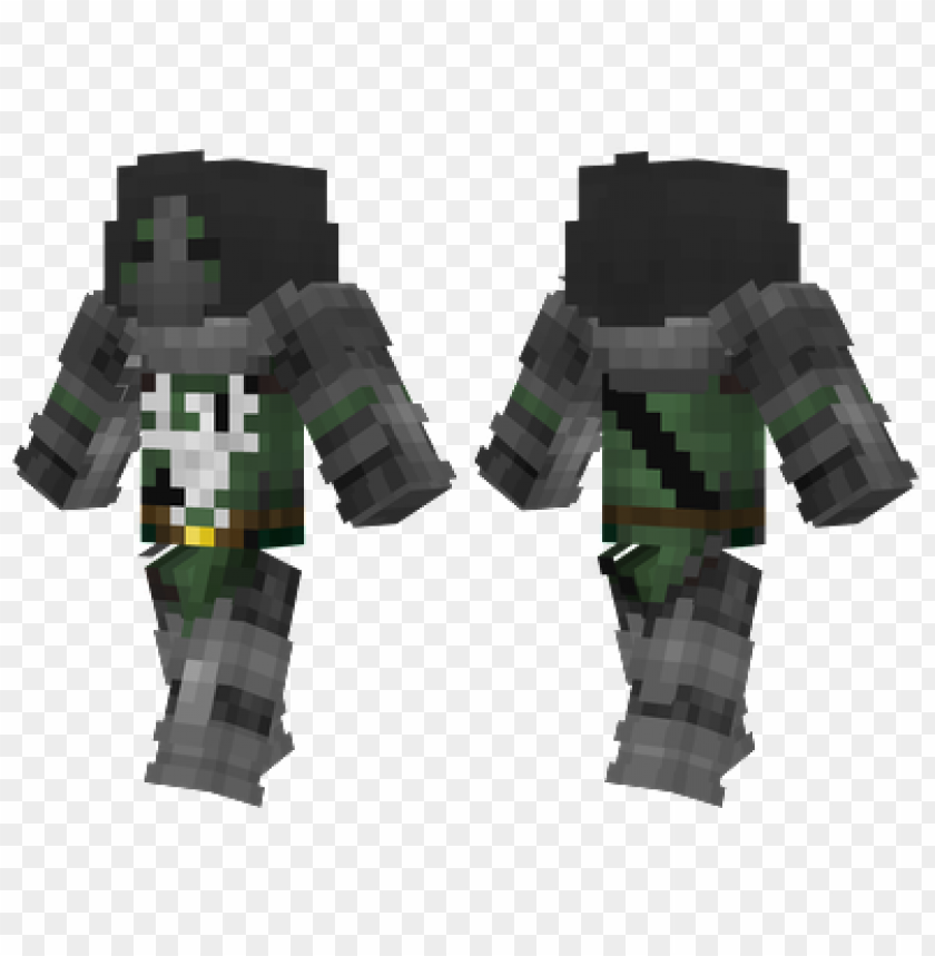 minecraft skins dark green knight skin PNG image with.