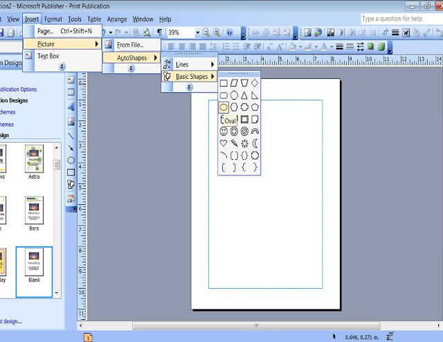 Make Patterned Papers with Shapes and Clipart in Publisher.