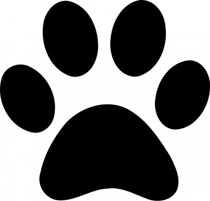 Dog bone paw print free vector in open office drawing svg svg.
