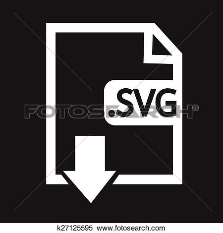Clipart of Image File type Format SVG icon k27125595.