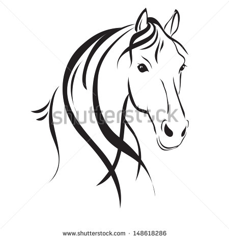 Horse Head clip art Free vector in Open office drawing svg ( .svg.