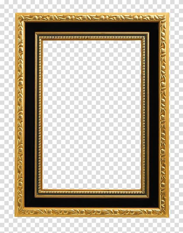 Black and brown frame template, , Gold Frame transparent.