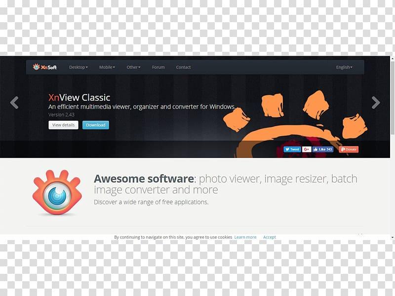 XnView viewer Computer program File viewer, Tiff transparent.