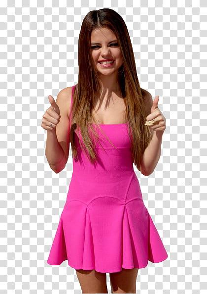 Selena Gomez Teen Choice Awards transparent background PNG.