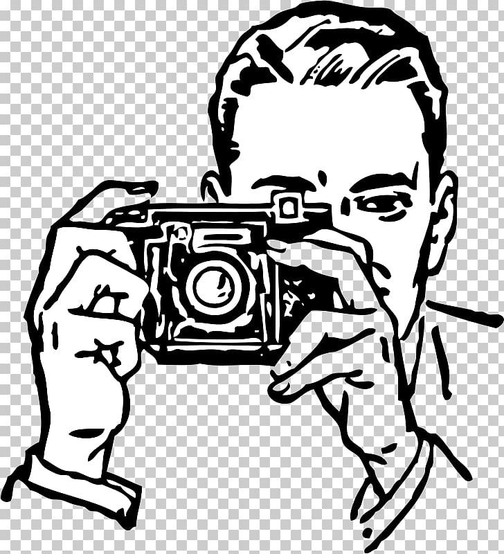 Photographic film Camera , Kamera , man taking photo PNG.