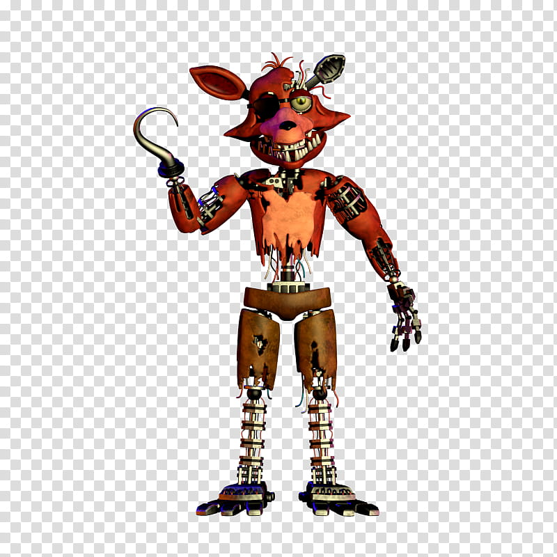 Withered Foxy Thank You Render transparent background PNG.