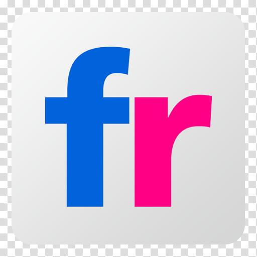 Flat Gradient Social Media Icons, Flickr, FR logo.