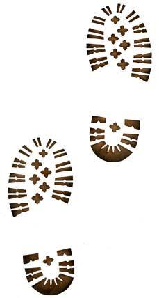 Hike Shoe Print Clip Art.
