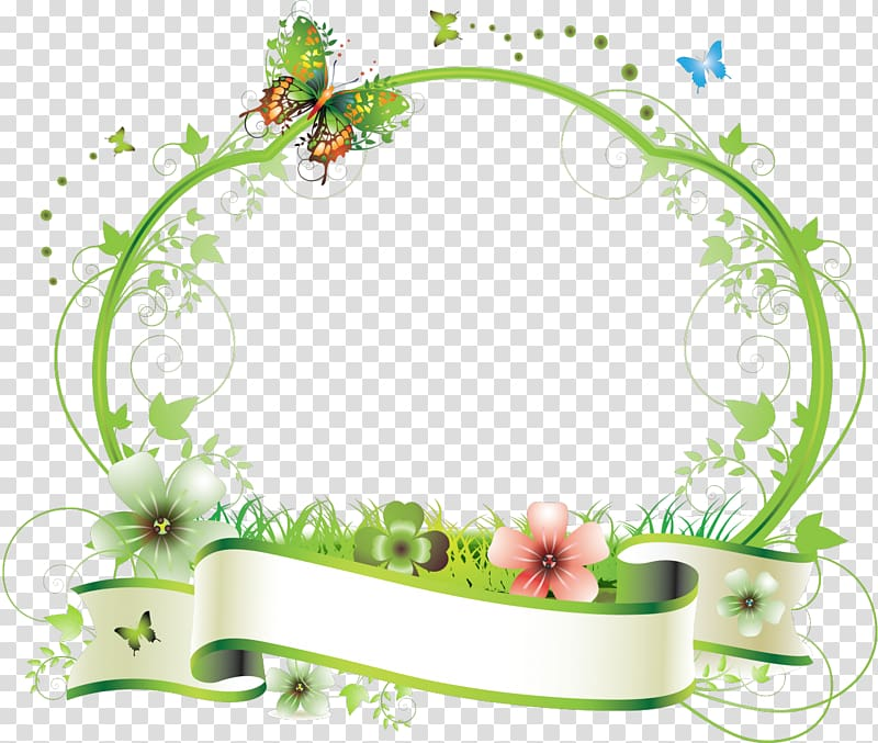 Frames Flower , aqua frame transparent background PNG.