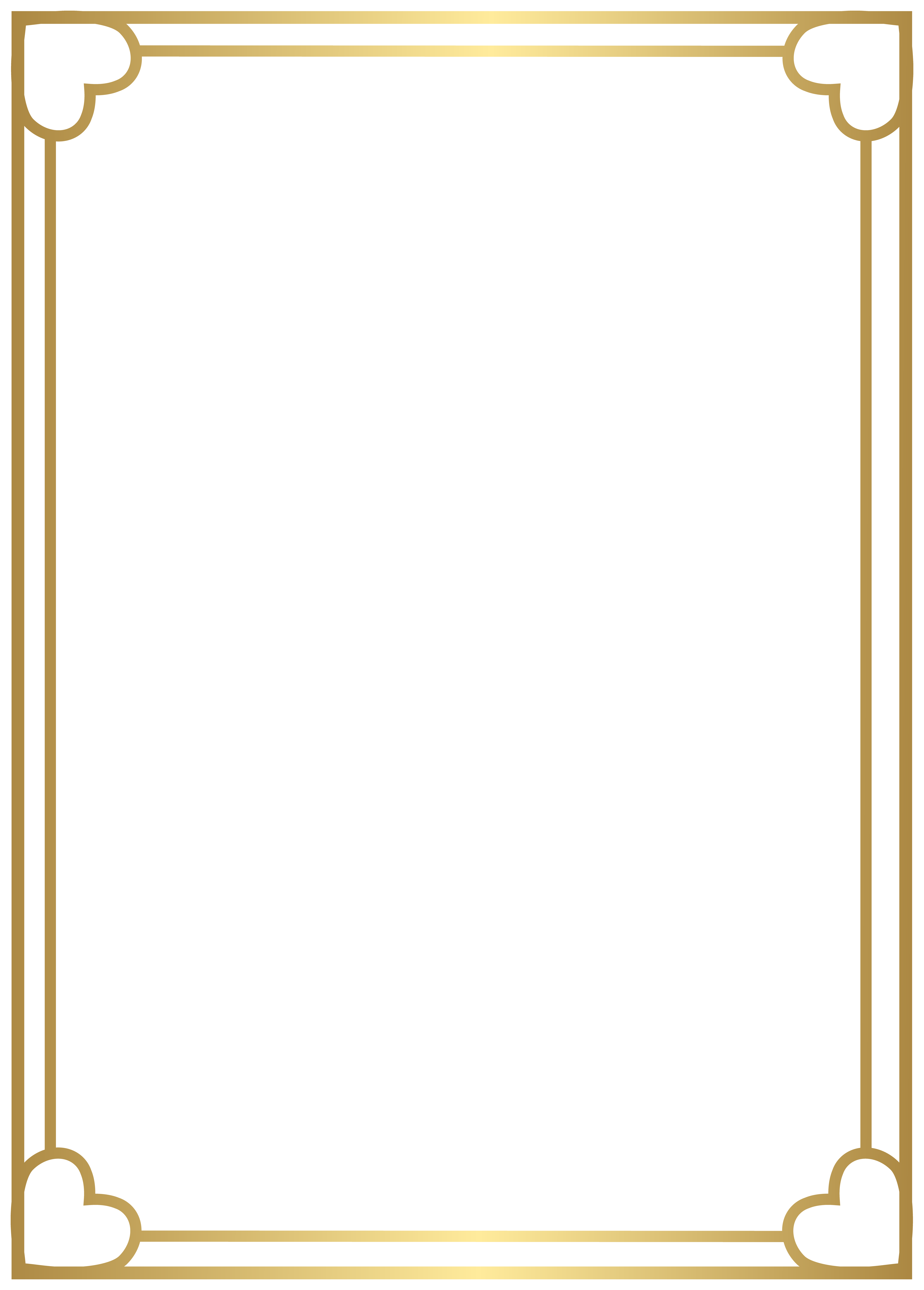 Border Frame Gold PNG Clipart.