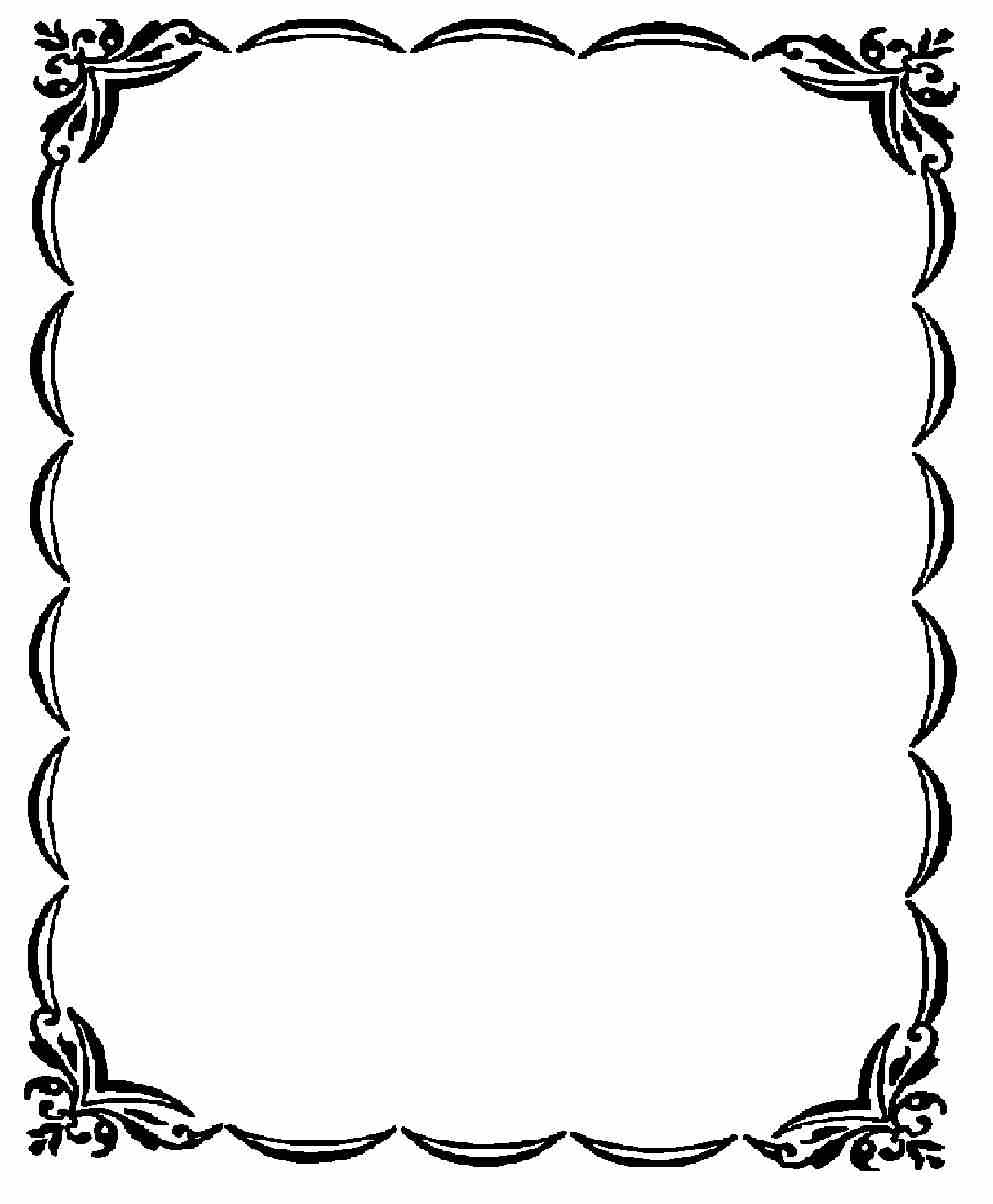 Frames clipart black and white, Frames black and white.
