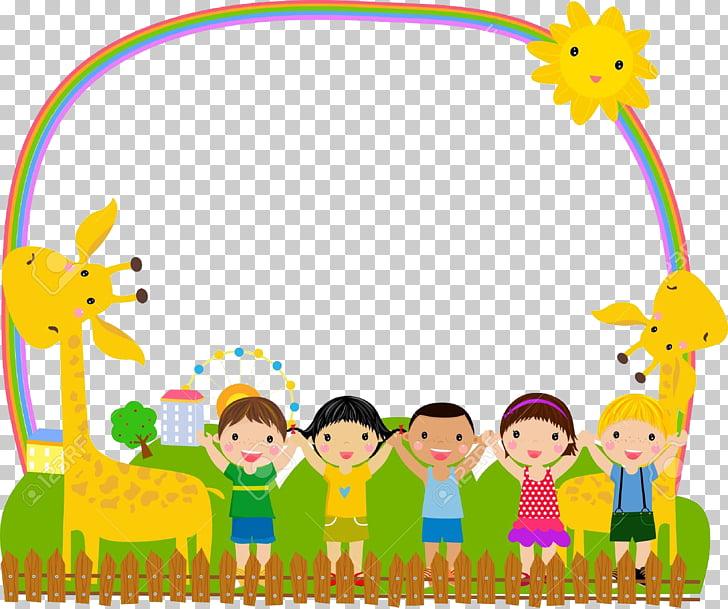 Frame Child Illustration, Cartoon children, children and.