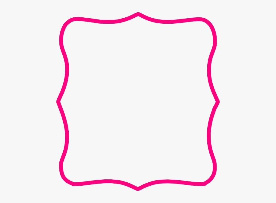 Hot Pink Frame Clip Art.