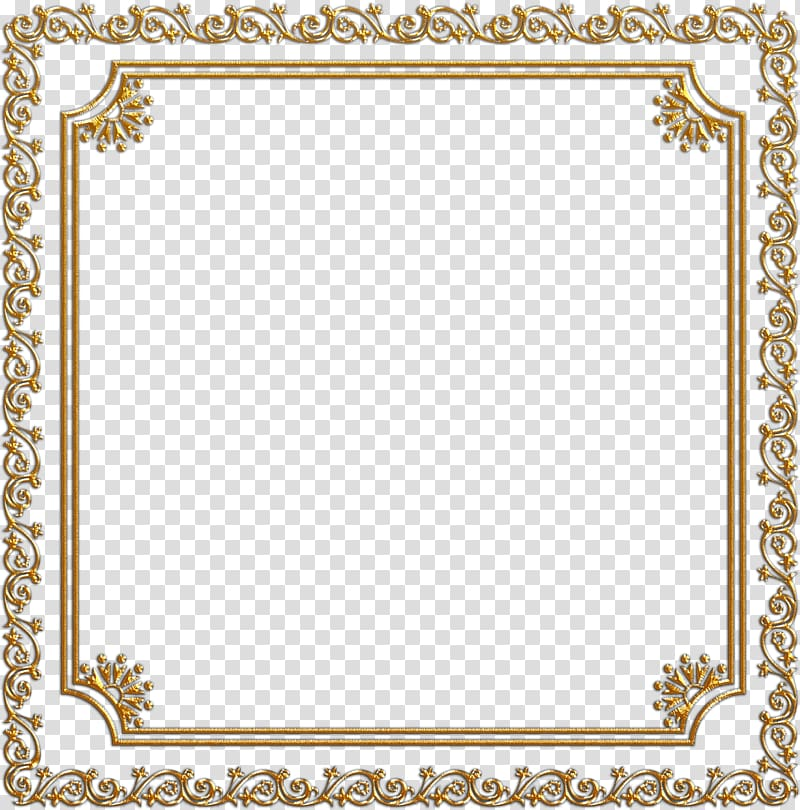 Frames , golden frame transparent background PNG clipart.