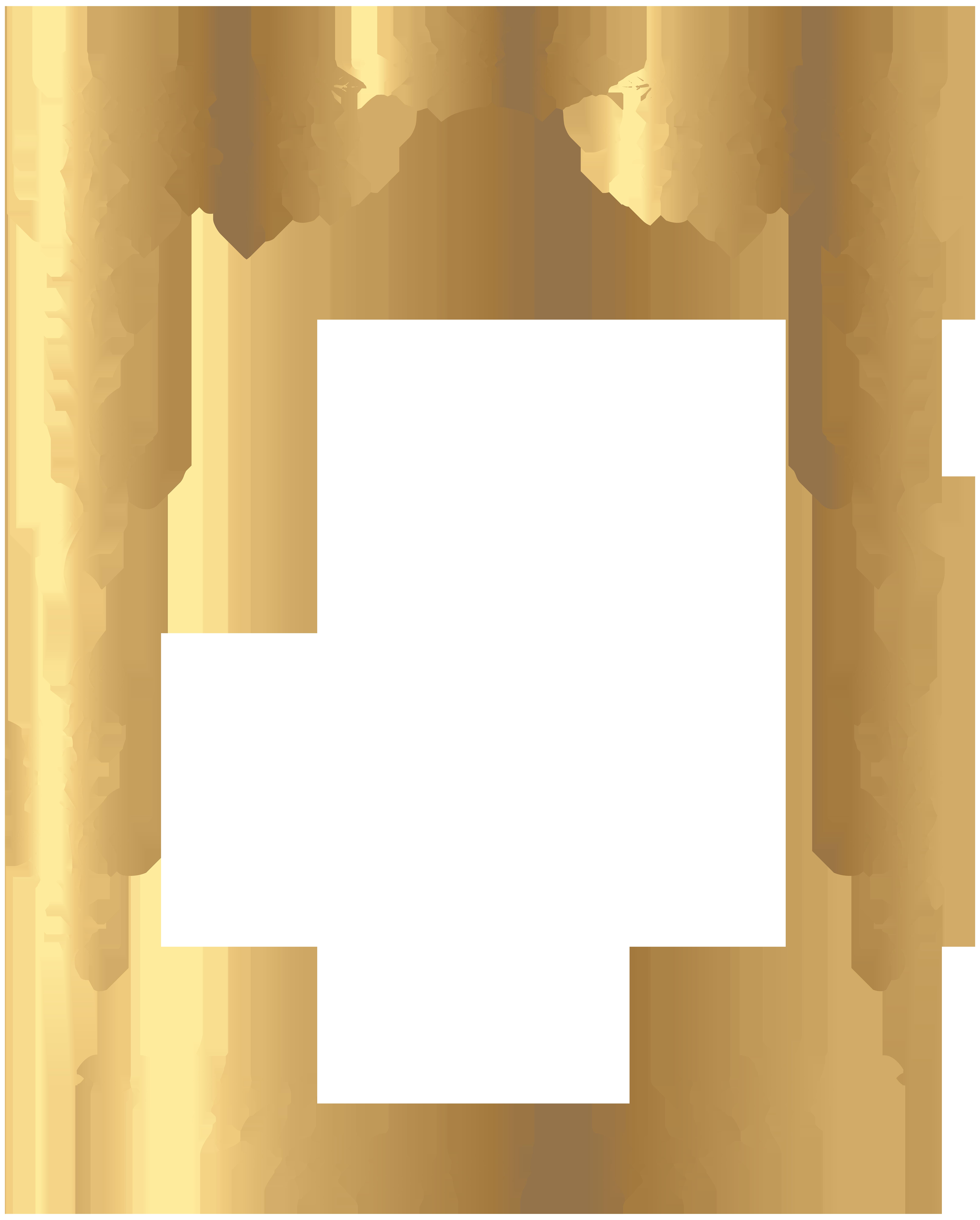 Decorative Rose Frame PNG Clip Art Image.