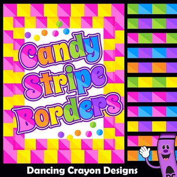 Clip Art Candy Stripe Borders and Frames Clipart.