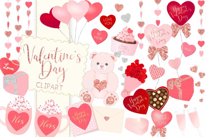 Valentine\'s Day Illustration Clipart.