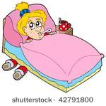 Clipart Frau Im Bett Clipground