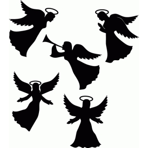 clipart free angel ornament silhouette - Clipground