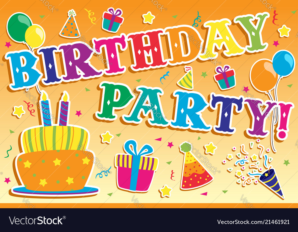 Birthday party invitation.