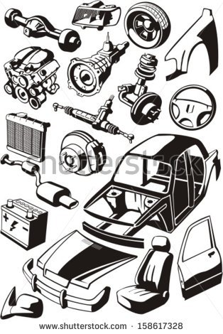 Vector car parts silhouette free vector download (7,425 Free.