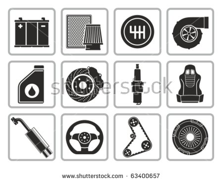 Car Parts Icon Stock Images, Royalty.