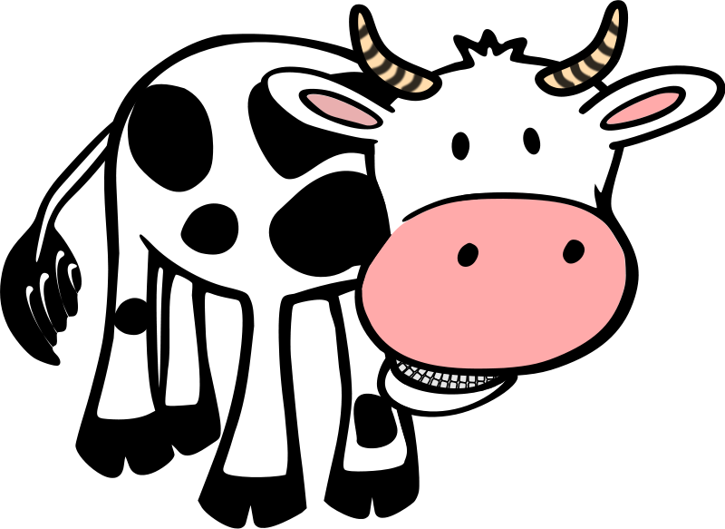 Cow Clip Art Free Cartoon.