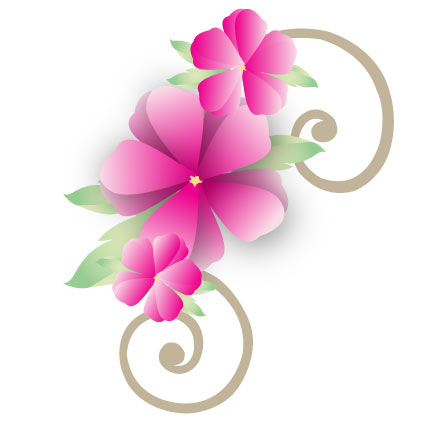 pink flower clipart free - Clipground