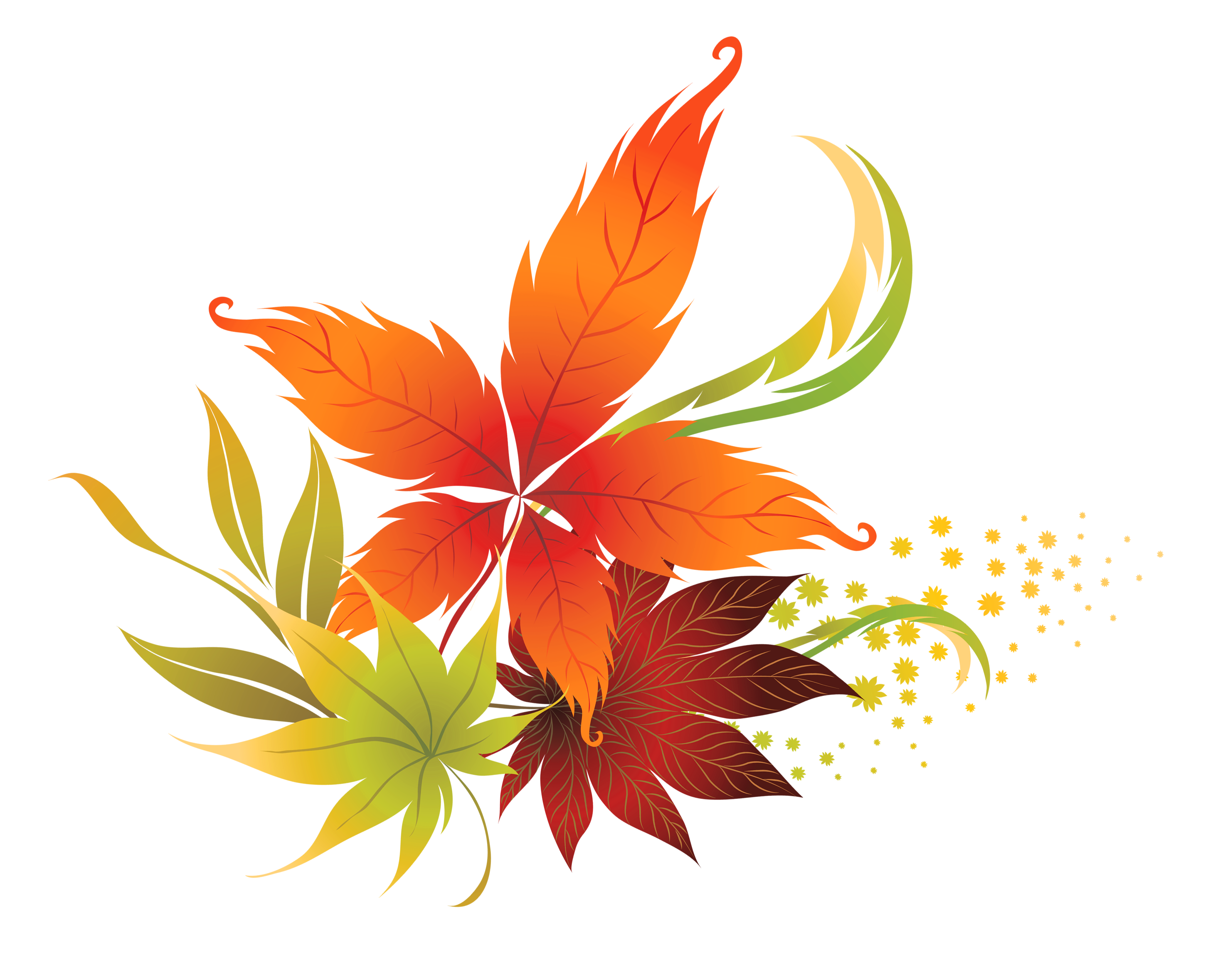 Fall Leaves Clipart Free.