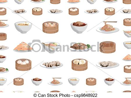 Vector Illustration of chinese foods,Buns, steamed buns, steamed.