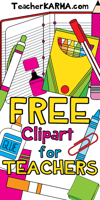 FREE: School Supplies Clipart.