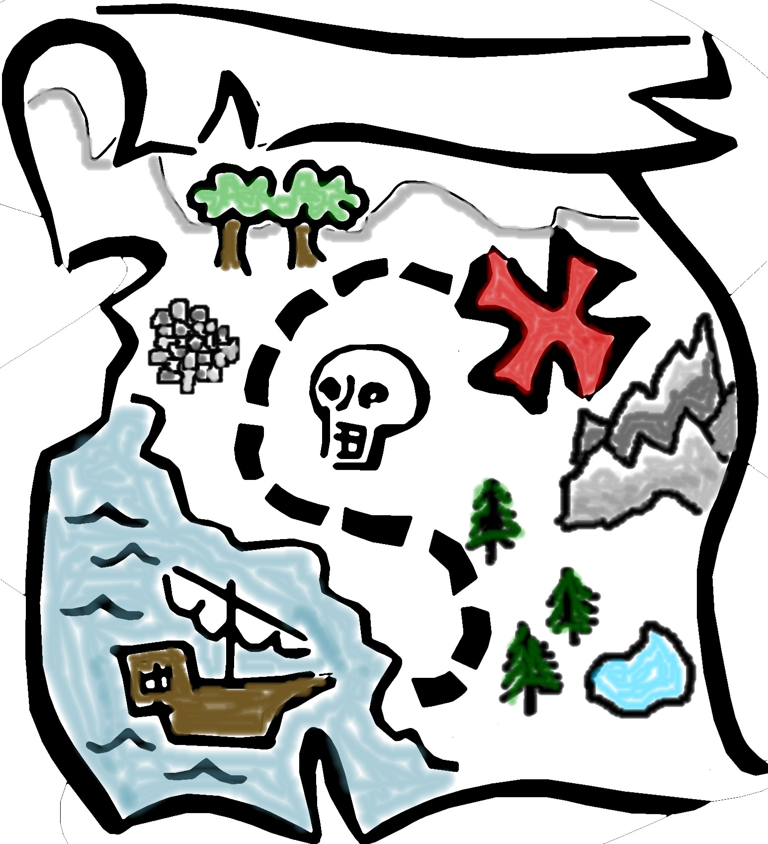 Best Treasure Map Clipart #8359.