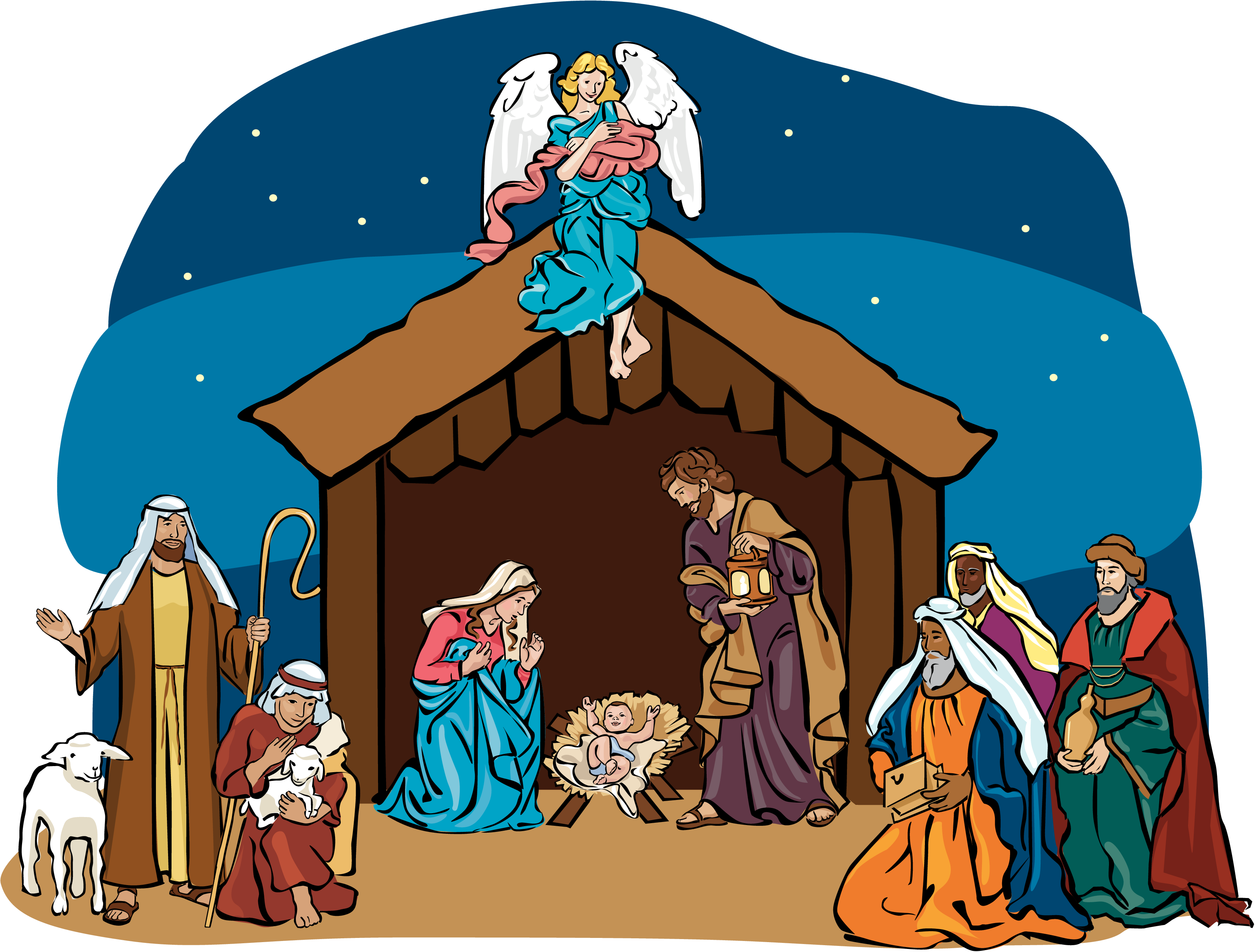 Nativity scene clipart free 3 » Clipart Station.
