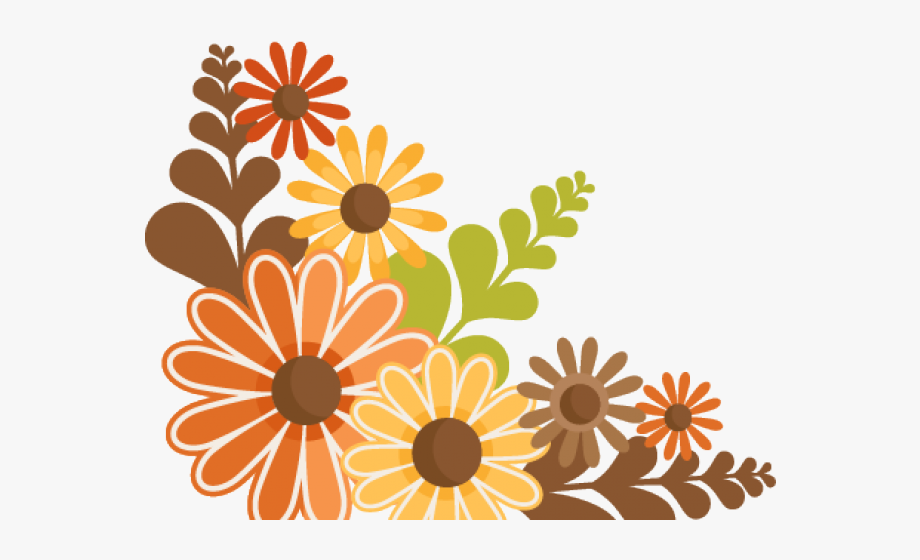 Vintage Flower Clipart Free Fall.