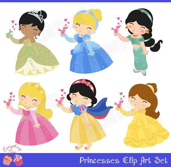 Princesses Clip Art Set.