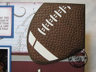 347 best images about Football scrapbook pages on Pinterest.