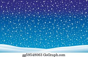 Falling Snow Clip Art.