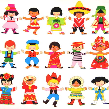 Free Kids Around the World (traditional clothing) from Kiz Club.