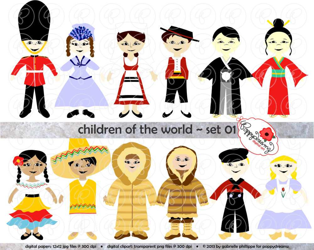 Children Of The World Clipart.