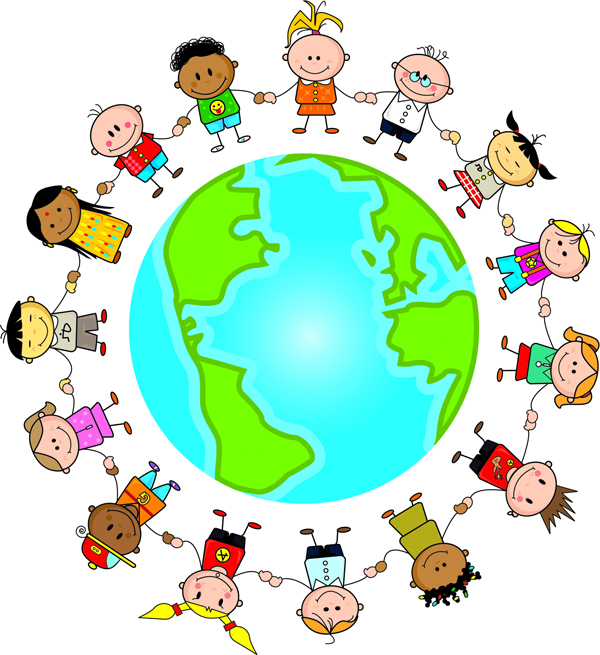 Multicultural Kids Clip Art by Jeanette Baker.