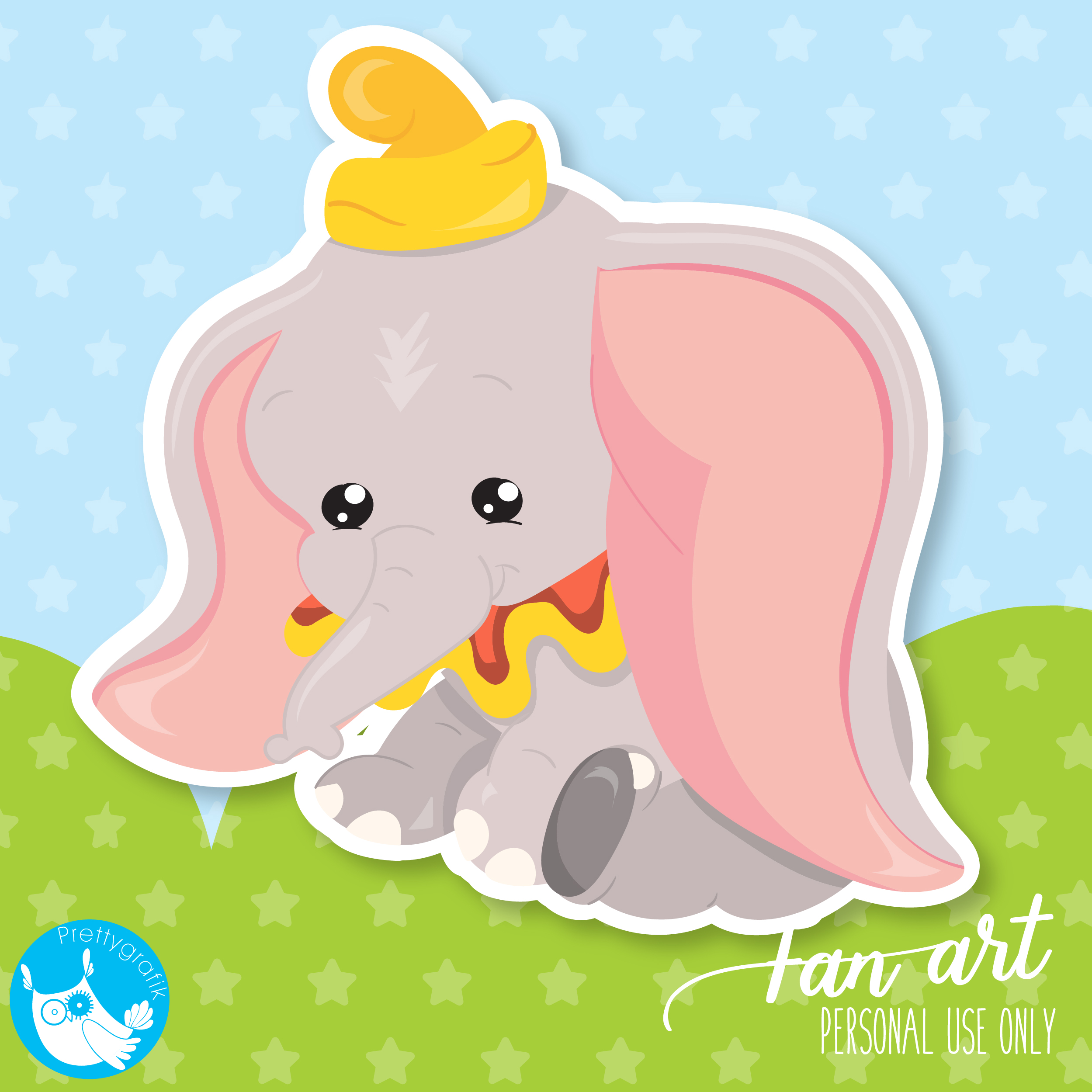 Dumbo clipart Freebie.