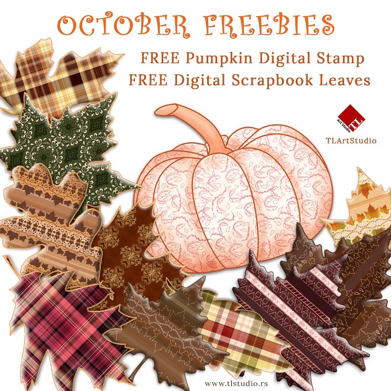 FREE Fall Digital Scrapbooking Clip Art Set.