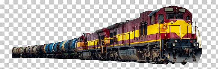 Long Freight Train, yellow and blue train PNG clipart.