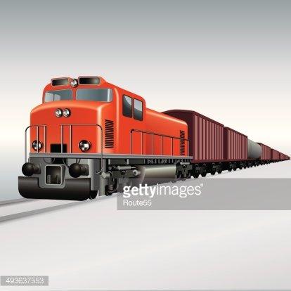 Freight Train premium clipart.