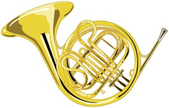 French horn clipart free.