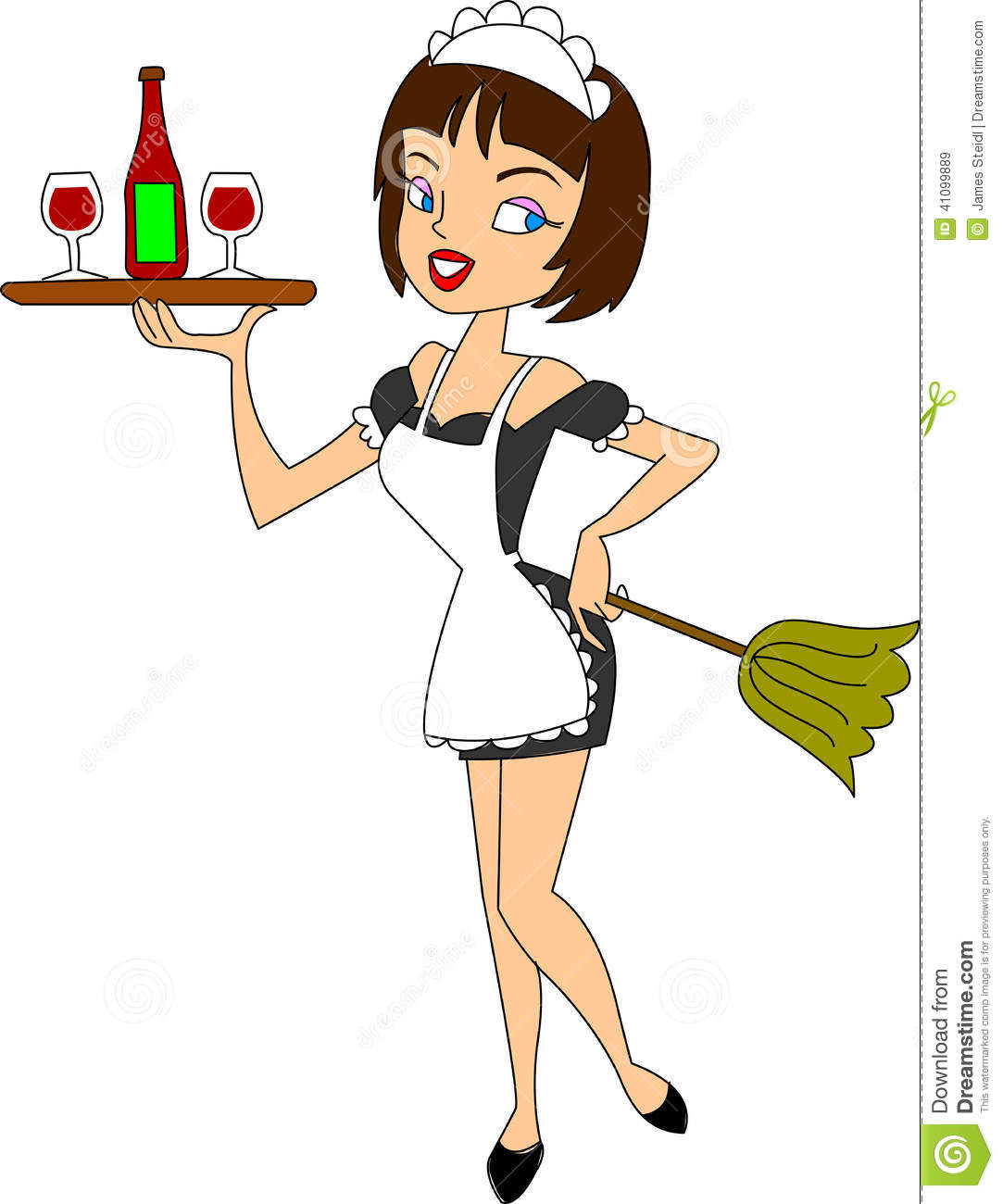 395 Maid free clipart.